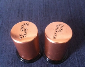 Copper Kitsch // 50s Salt and Pepper Shakers