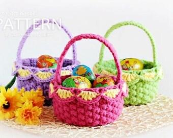 Crochet Pattern - Small Crochet Baskets (Pattern No. 041) - INSTANT DIGITAL DOWNLOAD