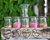 Birch Bark Sand Ceremony Set for Your Children Crate Personalized Centerpiece (5 Child)