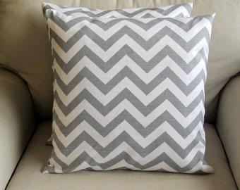 SALE chevron gray  Pillow Cover 18""