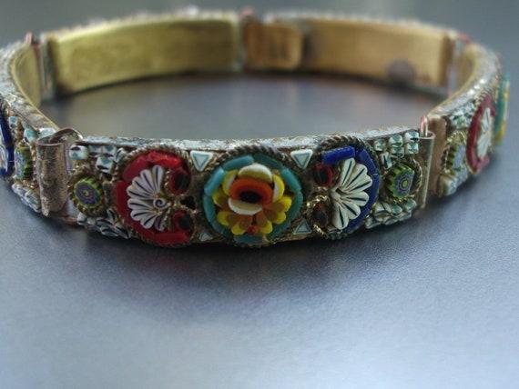 Antique Victorian Micro Mini Mosaic Bracelet