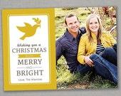 Custom Photo Holiday Card--Merry and Bright