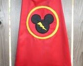 Mickey Mouse Super Hero Cape With lightning bolt