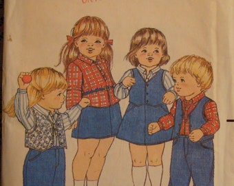 OOP Vintage McCall's Sewing Pattern 4002 Size 2 Child Uncut