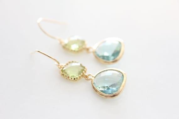 Blue & Green Glass Drops