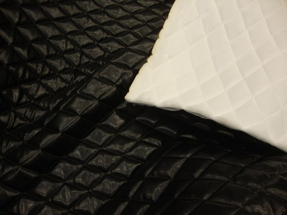 54 Quot Wide Black Faux Leather Quilted Vinyl Auto Headliner