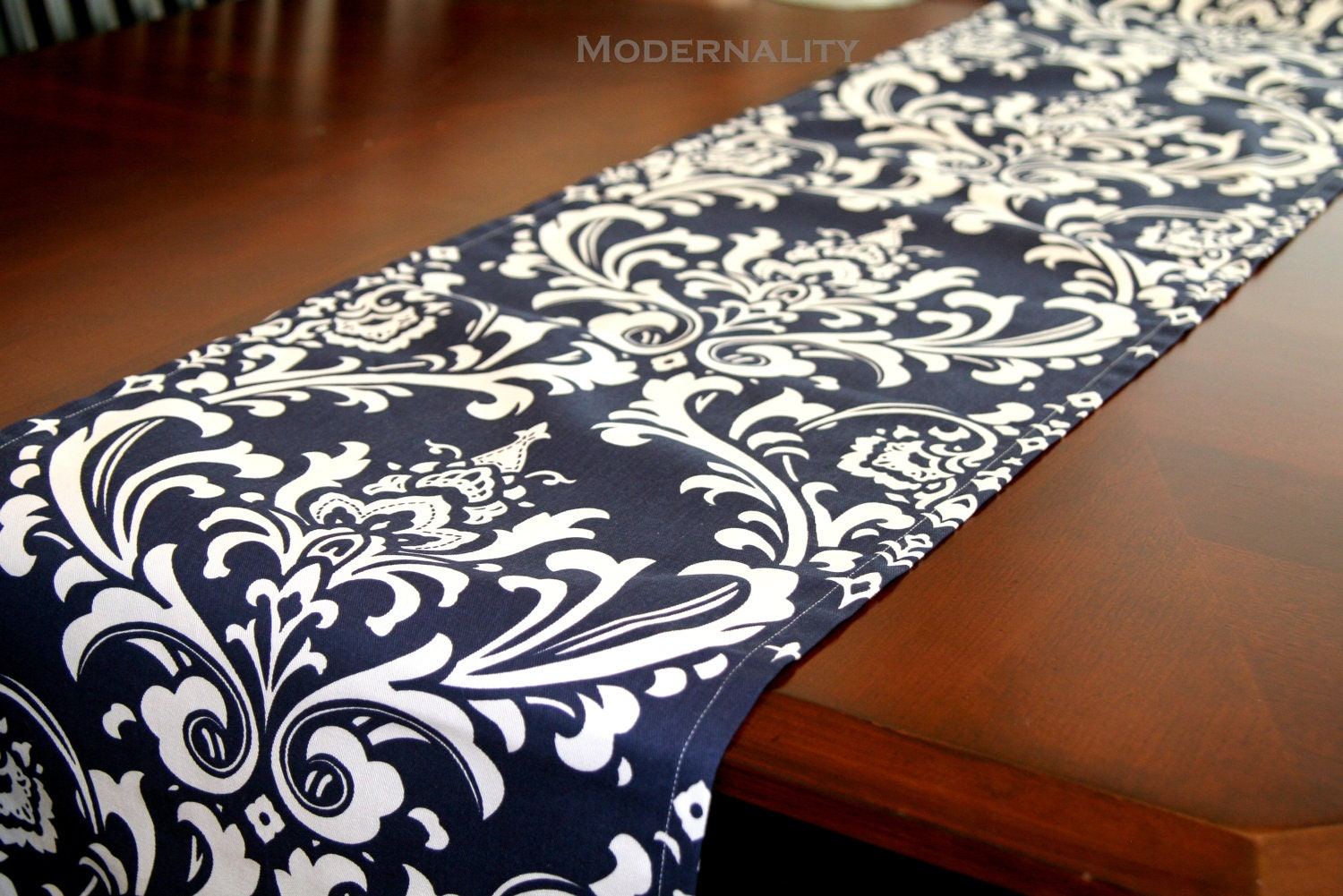 CLEARANCE Damask Table Runner Navy Blue Ozborne Dining Room : ilfullxfull3904980303ynd from www.etsy.com size 1500 x 1001 jpeg 363kB