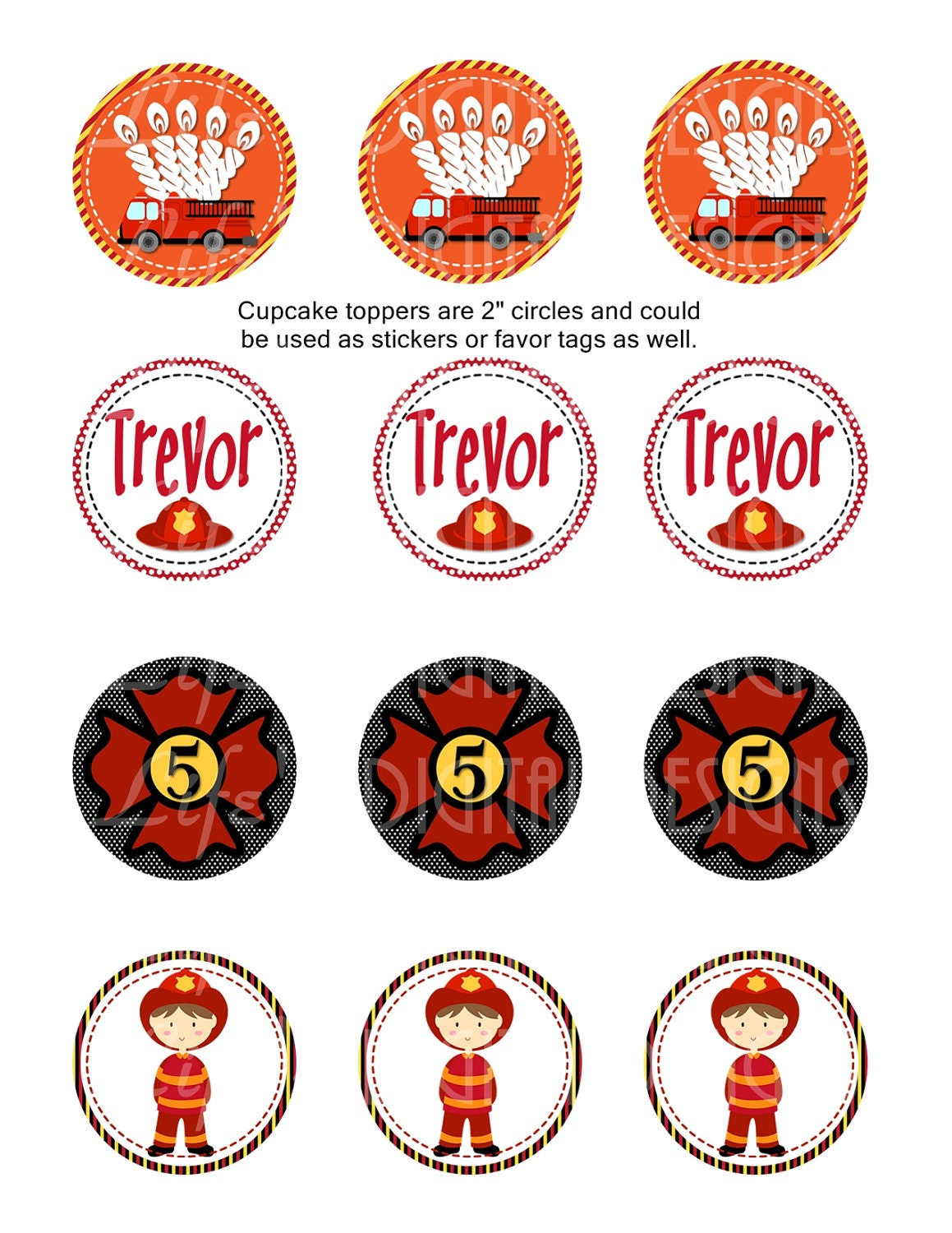 Firefighter Cupcake Decorations Fire Truck Cupcake Toppers Related Keywords Suggestions Fire