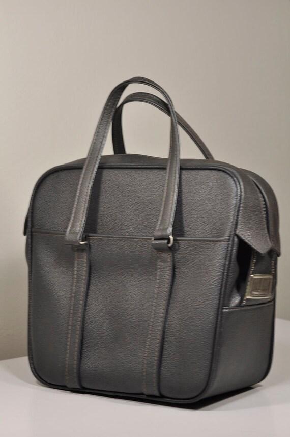 Vintage Charcoal Black Carry On Tote by Samsonite