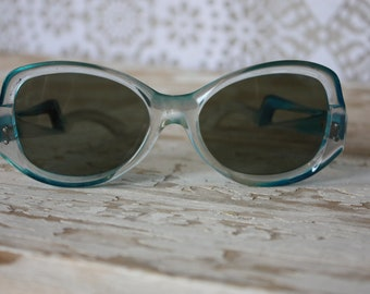 Vintage 1950's Blue Plastic French Sunglasses