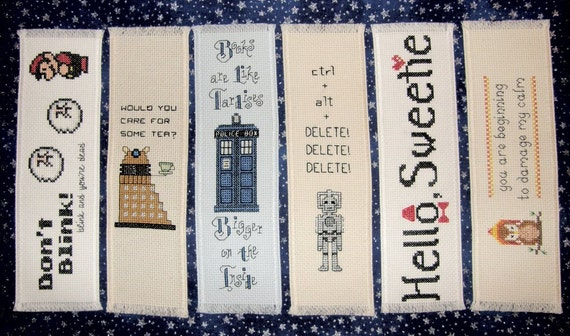 Cross stitch bookmark PATTERN bundle of 3 - Your choice of Doctor Who, Firefly Inspired PDF patterns