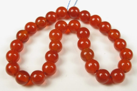 Carnelian Round Spacer Bead - 4mm - 4.5mm - 30 Pieces - A2619