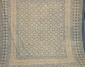 vegetable dye queen size cotton hand block printed bedsheet