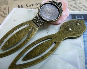 3pcs 21x80mm The Mirror bookmark  Antique Bronze Retro Pendant Charm For Jewelry Bracelet Necklace Charms Pendants C1705