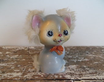 Vintage Cat Figurine Napco Kitten Bank Napco Figurine Piggy Bank Cat Lady Ceramic Cat Vintage Kitten