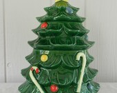 Stash the Snacks Vintage Christmas Tree Cookie Jar in two tiers Great Holiday Decor or Gift