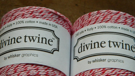 Oooooooohhh Peppermint -  Divine Twine - HOLIDAY SALE - 240 yards-10.00-