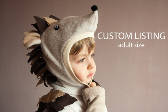 Custom listing, Fairy Tale Hedgehog Costume