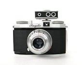 King Regula I vintage 35mm camera - silver and black - flash and other attachments - Made in Germany