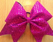 pink sequin cheer bow.