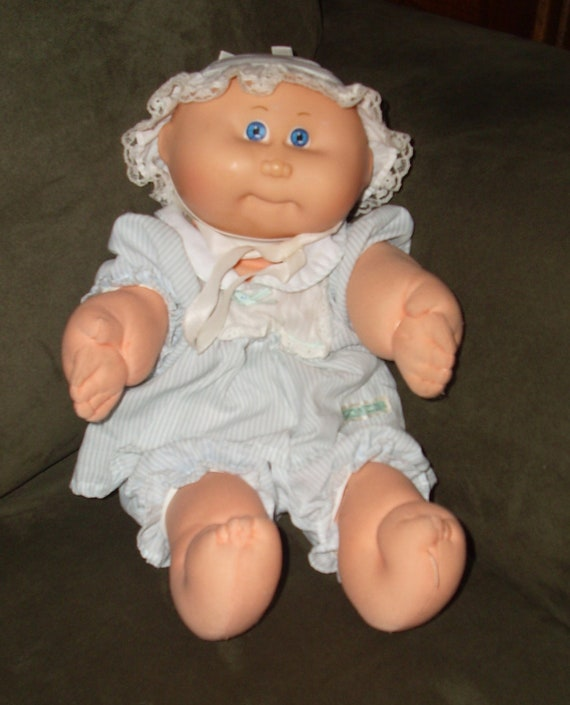 1982 Cabbage Patch Kid with blue and white outfit