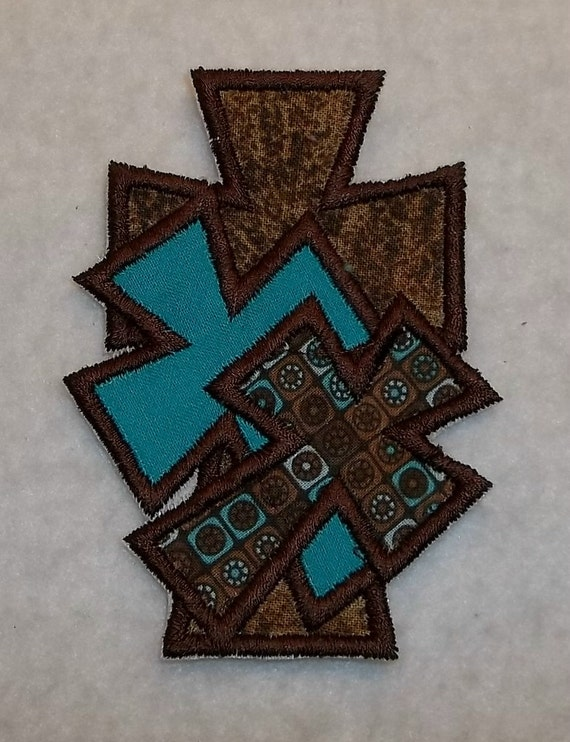 Cross iron on Applique Patch 980