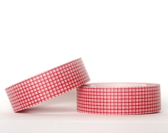 Red Grid Washi Tape