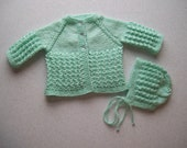 Mint Green Sweater and Hat