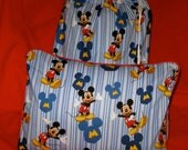 Mickey Mouse Travel Blanket 4 Piece Set - Toddler Blanket, Pillow & Case, Tote Bag - Disney Vacation - Ready to Ship - Nap Time
