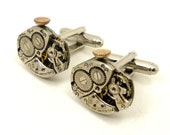Steampunk Watch Cuff Link, Antique Cufflinks from Watch Movements