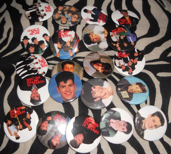 New Kids on the Block buttons