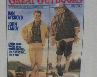 Vintage 1980s The Great Outdoors Comedy Movie T-Shirt Original 80s John Candy Dan Aykroyd Tee Shirt