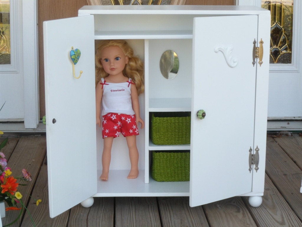 Doll Armoire Wardrobe For 18 Dolls