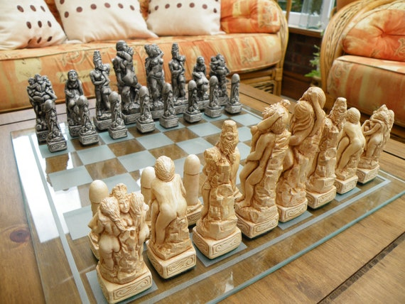Kama Sutra Mature  Adult Erotic Chess Set (Board Not Included)
