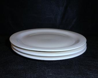 Vernon Kilns Plates White Early California Three Bread and Butter Plates