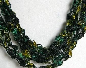 Jade Garden- Crocheted Necklace