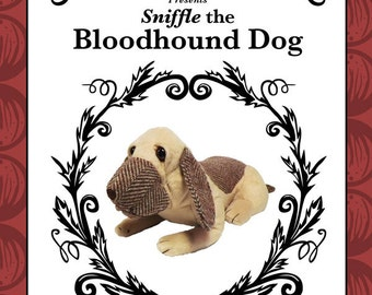 Bloodhound Dog - plush toy dog pattern