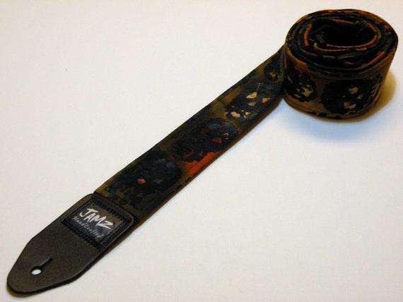 Handmade Double Padded Skulls Guitar Strap - Tie-Dyed Skulls - Nightmare on Jamz Street - Rocker - Day of the Dead