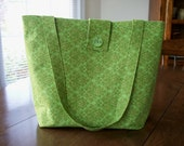 Tote Bag Green Medium Size
