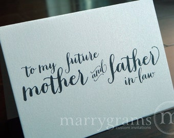 Wedding Card to Your Future Mother and Father in-Law - To My Future In-Laws - Parents of the Bride or Groom Cards CS02