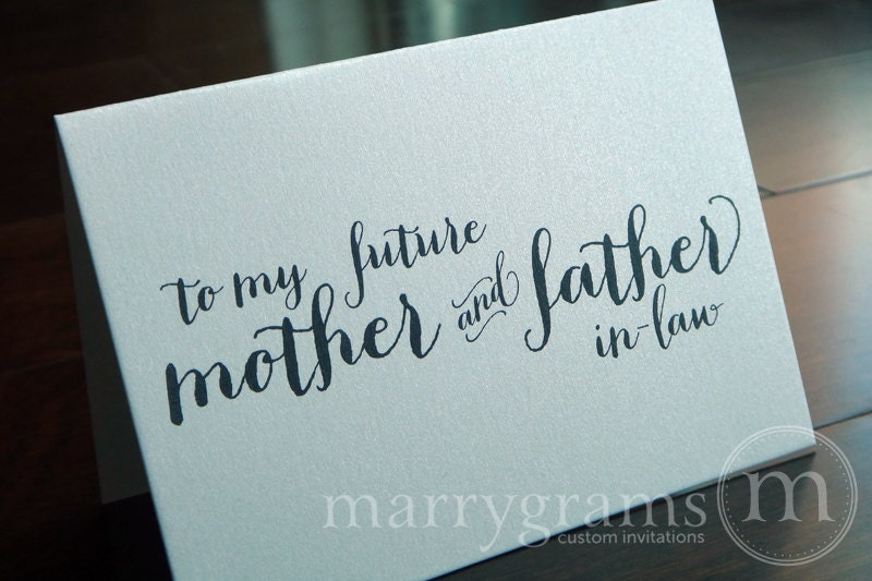 Future Mother In Law Gifts: SALE 1/2 OFF Wedding Card To Your Future Mother And Father