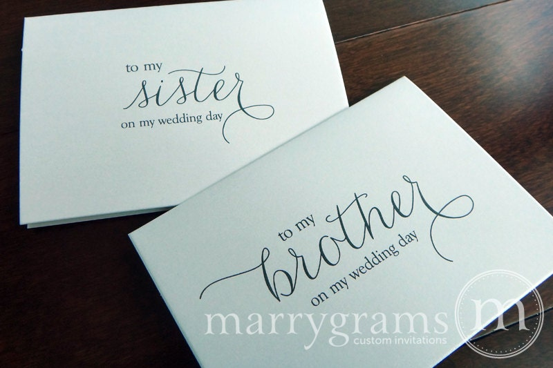 Wedding Present For Brother And Sister In Law : Wedding Card to Your Brother or Sister Siblings of the