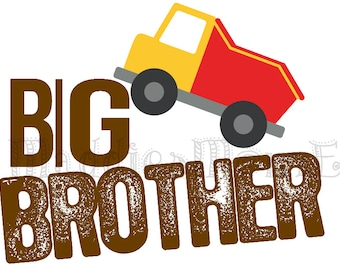 Big Brother Iron on Transfer Dump Truck
