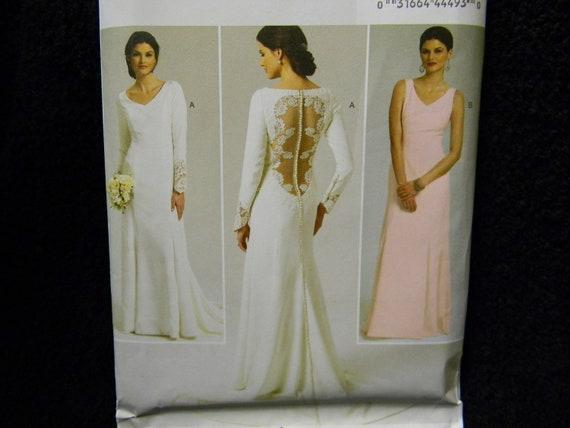 Uncut Butterick Pattern 5779 Size 4-12 Gorgeous Wedding Dress, Bridal Gown, Bridesmaid Dress