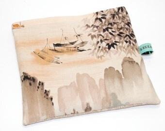 Reusable Snack Bag - Reusable Sandwich Bag - Alexander Henry Japanese Design