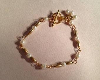 Pearl Bracelet Flower Girl Jewellery Wedding Jewelry First Communion Fashion Gold