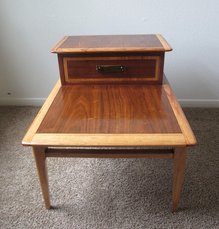 Mid Century End Table Lane Furniture Retro By Drefindsvintage