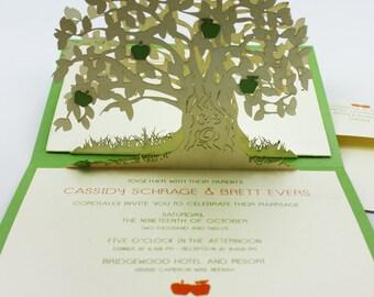 "Pop-up cards ""apple tree"""