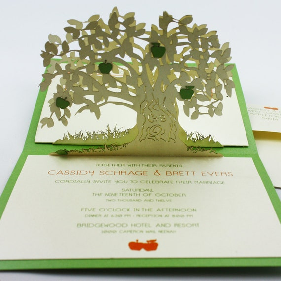 Pop Up Cards Apple Tree