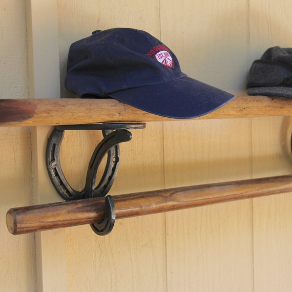 2 Horseshoe Shelf Bracket hooks supports for shelves pole